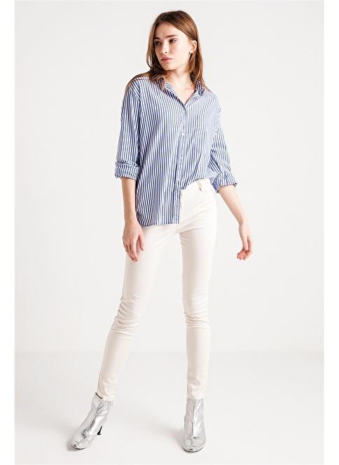 Love'n Fashion Paris Pantolon Krem
